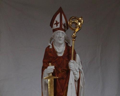 Heiliger Kilian (Riemenschneider Kopie) 2015 Grundierung:Polus: Blattgold