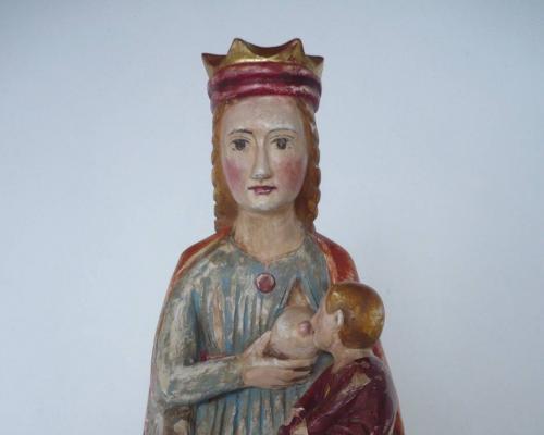 Kopie Romanische Madonna Laatsch : Südtirol